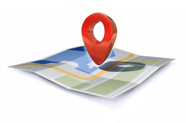 Ícone de localização ou ponteiro de pino no mapa