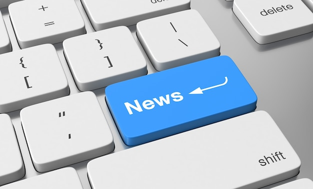 Ícone de notícias no botão do teclado