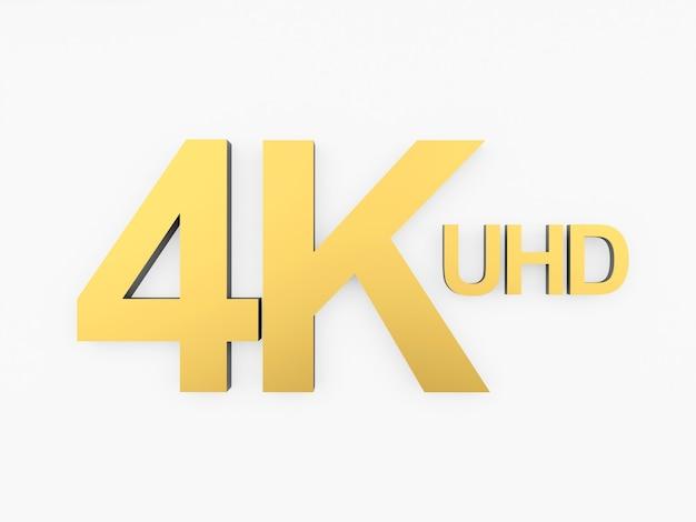 Ícone de ouro 4k uhd