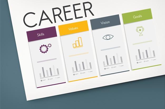 Ícone de palavra gráfica de desempenho de sucesso de desenvolvimento