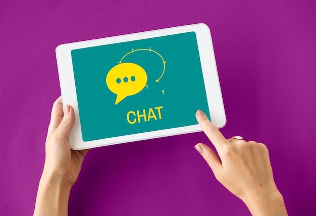 Ícone de rede de mensagem de bolha de bate-papo