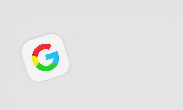 Ícone de renderização 3d logo google