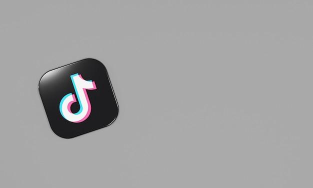 Ícone de renderização 3d logotipo tiktok