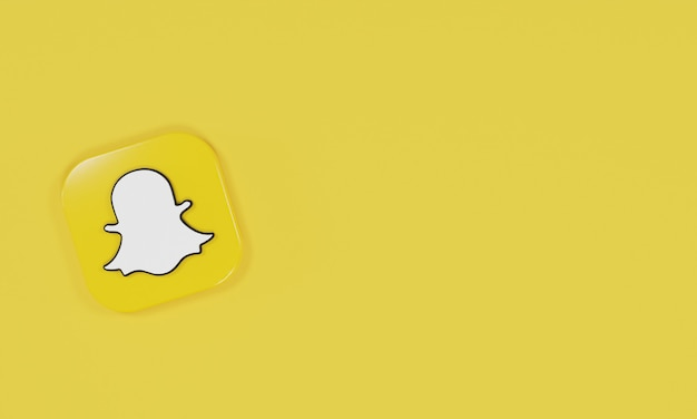 Ícone de renderização 3d snapchat de logotipo