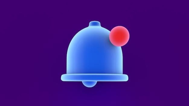 Ícone de sino de notificação de lembrete azul