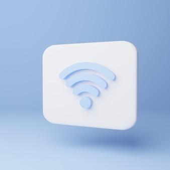 Ícone de wi-fi 3d. sinal de sinal sem fio Foto Premium