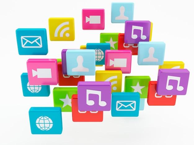 Ícone do aplicativo do telefone móvel. conceito de software