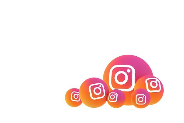 Ícone do instagram definido em branco