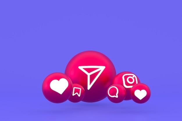 Ícone do instagram definido em roxo