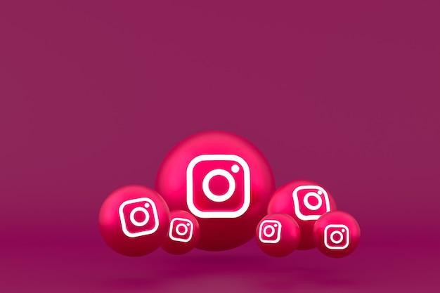 Ícone do instagram renderizado em vermelho