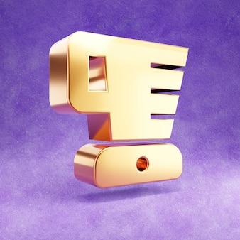 Ícone do liquidificador isolado em veludo violeta