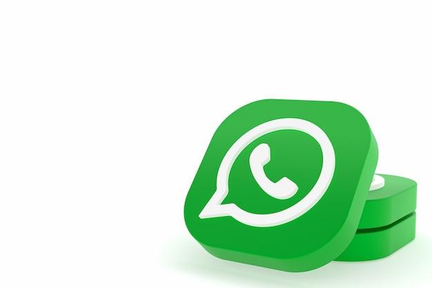 Ícone do logotipo verde do aplicativo whatsapp renderização 3d