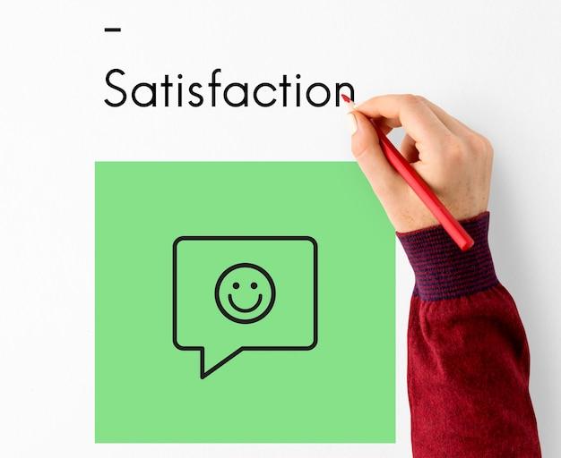Ícone do sinal de feedback do atendimento ao cliente da avaliação da avaliação