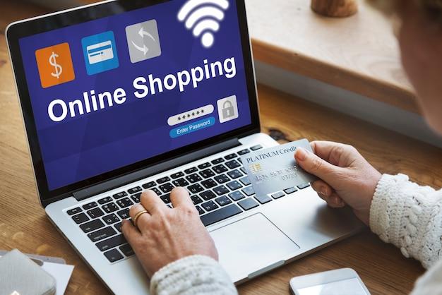 Ícone financeiro de transação de banco na internet