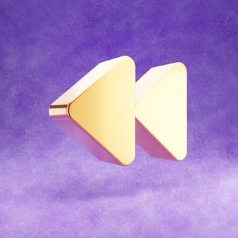 Ícone reverso isolado em veludo violeta