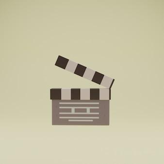 Ícones 3d do cinema com fundo