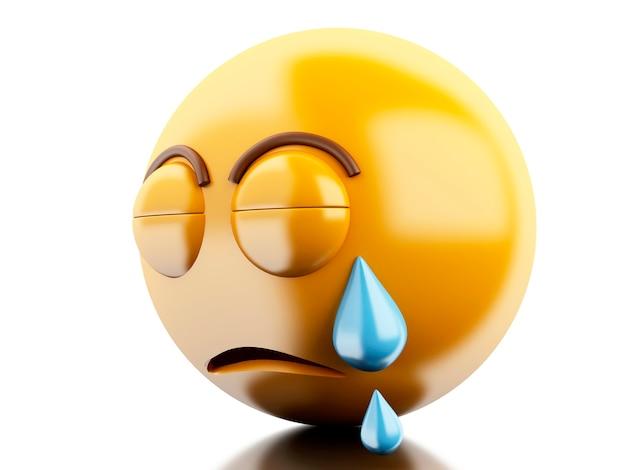 Ícones 3d emoji com expressões faciais.