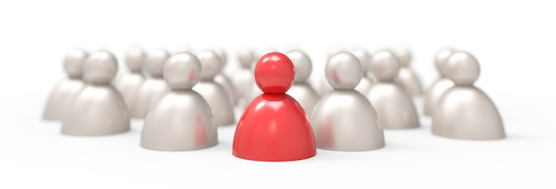 Ícones de pessoas. o líder / pense diferente conceito isolado