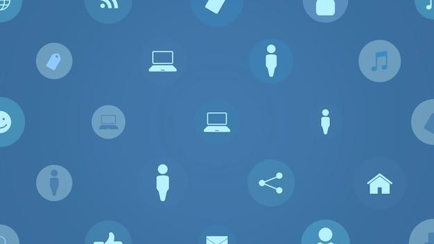 Ícones de rede em fundo simples. estilo dinâmico elegante e luxuoso para negócios, modelos corporativos e sociais