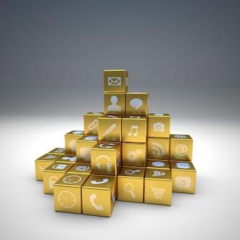 Ícones dourados