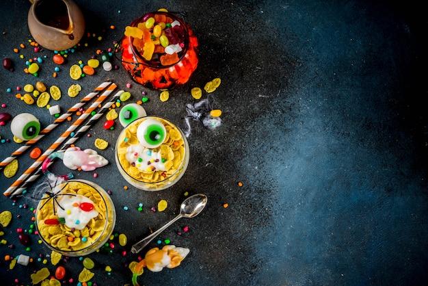 Idéia criativa de comida de halloween