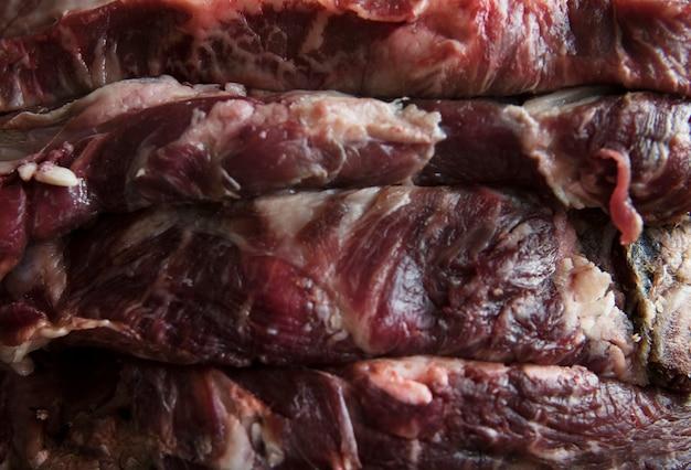 Idéia da receita da fotografia do alimento do bife