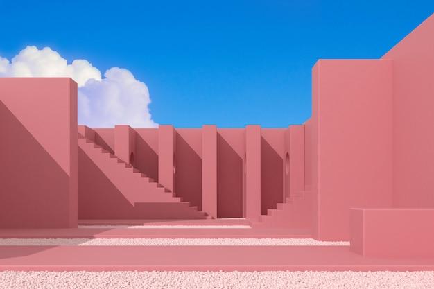 Idéia de arquitetura com sombra e sombra