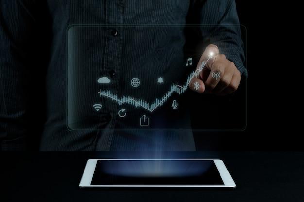 Ideia de conceito de foto de seo de marketing digital com conteúdo infográfico especial