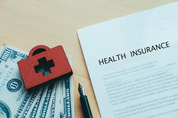 Idéia de conceito de política de seguro de vida e saúde.
