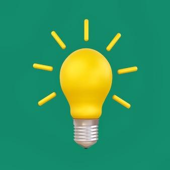Idéia de lâmpada e conceito de economia de eletricidade.