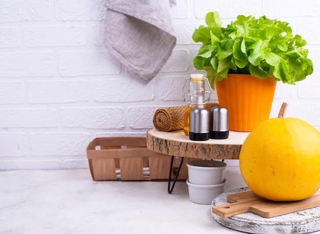Ideia de organização do espaço na cozinha