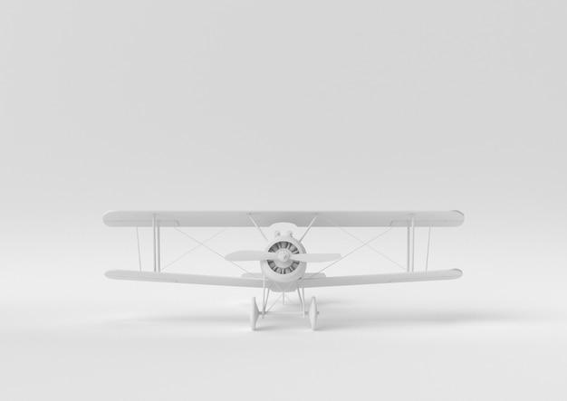 Idéia de papel mínimo criativo. avião branco do conceito com fundo branco. 3d rendem, ilustração 3d.