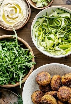 Ideia de receita de falafel de batata doce para vegan