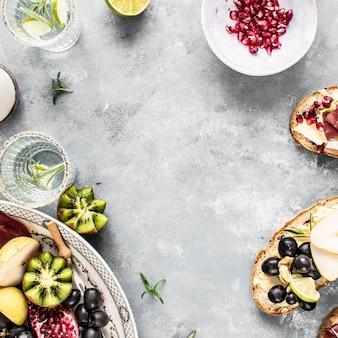 Ideia de receita de fotografia de comida de prato de queijo