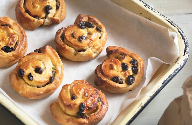 Idéia de receita de fotografia de comida dinamarquesa caseiro