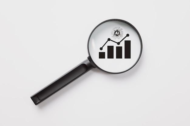 Ideia de tecnologia financeira e análise de negócios ai artificial intelligence