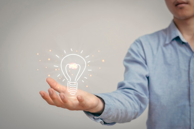 Ideias criativas com brainstorming Foto Premium