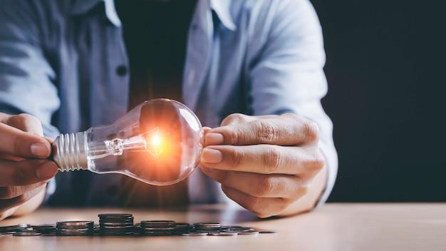 Ideias de campanha para economizar dinheiro economizando eletricidade Foto Premium