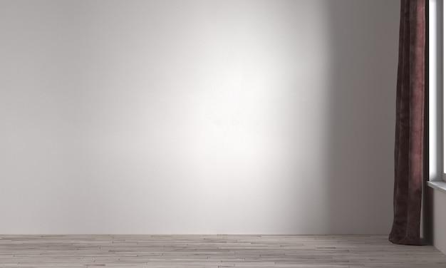 Idéias de decoração viva e simulação de móveis de design de interiores e fundo de textura de parede branca