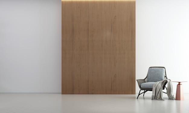 Idéias de decoração viva e simulação de móveis de design de interiores e fundo de textura de parede de madeira