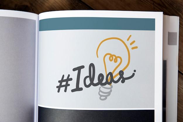 Idéias de palavra em uma revista