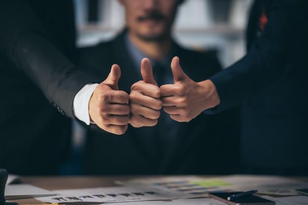 Ideias de sucesso comercial da equipe de negócios