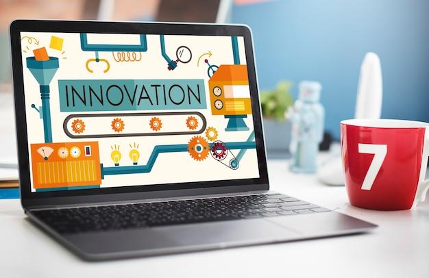 Ideias para inovação imagine o conceito de sistema de processamento