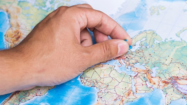 Identifique um lugar na europa