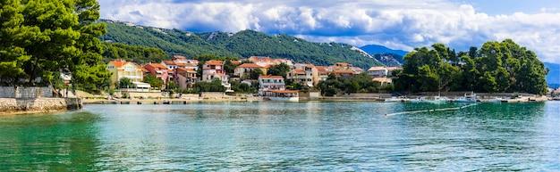Idílica bela ilha rab viagem e férias na croácia