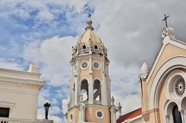 Iglesia san francisco de asis, a igreja em casco viejo, cidade do panamá, américa central