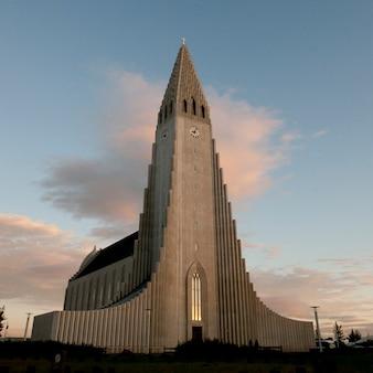 Igreja cristã de pedra de hallgrimskirkja