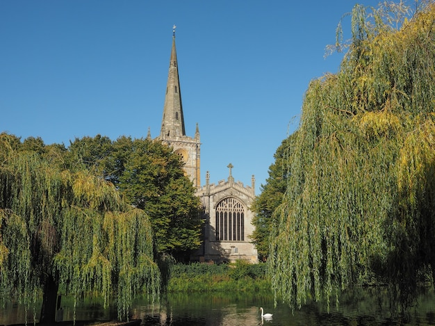 Igreja da santíssima trindade em stratford upon avon