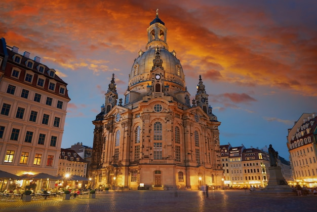 Igreja de frauenkirche de dresden na saxônia alemanha
