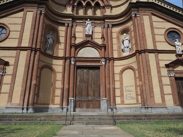 Igreja de santa bárbara em torino
